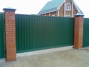 Фото откатных ворот шириной 4,6 метра