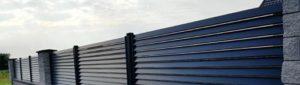 Комбинированный забор-жалюзи фото