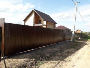 Забор в Одоеве фото
