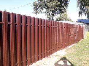 Забор из евроштакетника в Туле фото